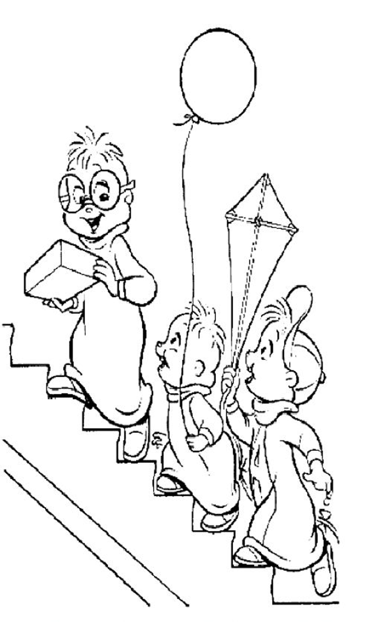 Alvin and The Chipmunks Coloring Pages 10