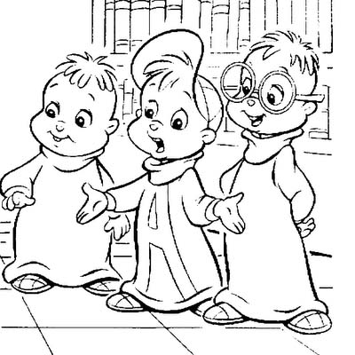 Alvin and The Chipmunks Coloring Pages 3