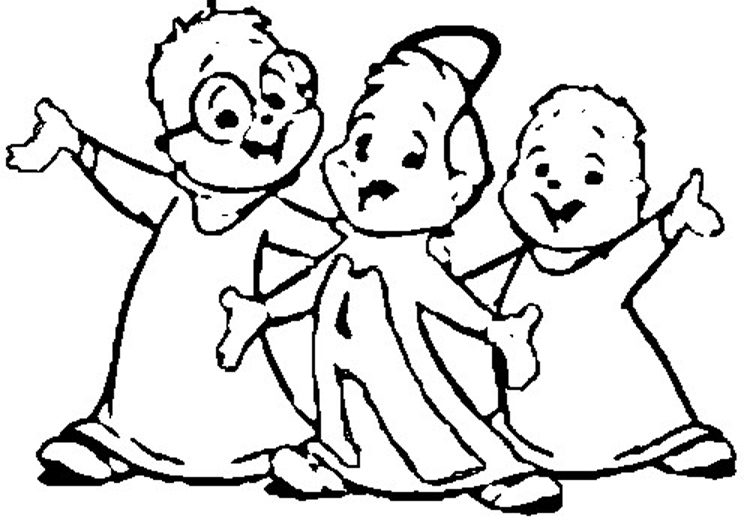 Alvin and The Chipmunks Coloring Pages 8