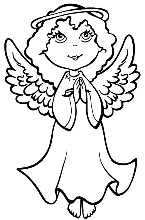 Angel Coloring Pages 12