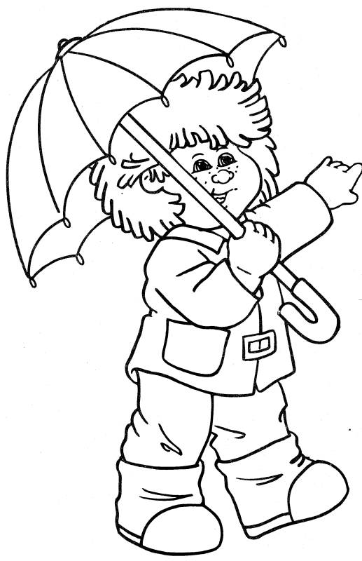 Child Coloring Pages 3