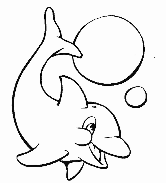 Dolphin Coloring Pages 1