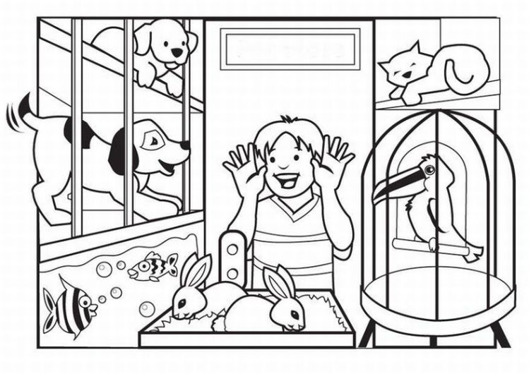 Pets Coloring Pages 4